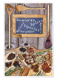 Plakat Spices in different languages
