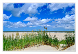 Plakat Dune with wonderful clouds