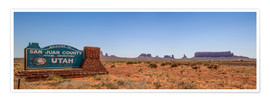 Plakat Monument Valley USA Panorama III