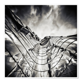 Plakat Gehry Duesseldorf | 03 (monochrome)