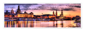 Plakat Panorama of Dresden