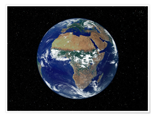 Plakat Earth - Africa and Europe