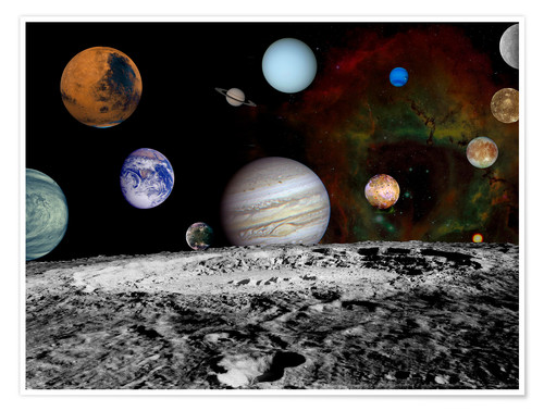 Plakat Montage of the planets