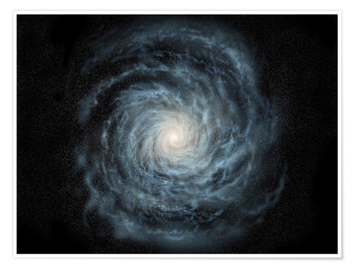 Plakat face-on view of the Milky Way