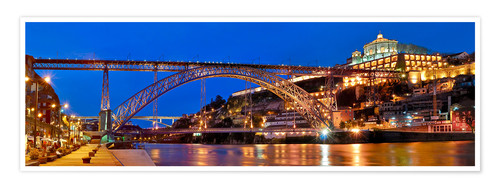 Plakat Porto Portugal, bridge Dom Luis