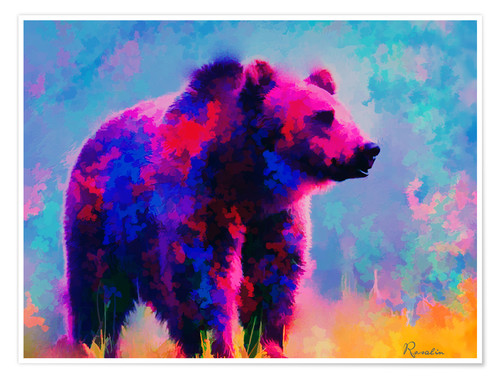 Plakat Grizzly Bear