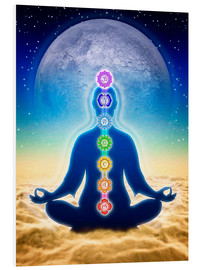 Obraz na PCV  In Meditation With Chakras - Blue Moon Edition - Dirk Czarnota