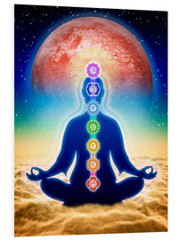 Obraz na PCV  In meditation with chakras - red moon edition - Dirk Czarnota