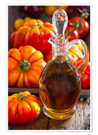 Plakat Olive oil and tomatoes II