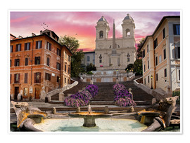 Plakat  Piazza Di Spagna with the Spanish Steps - Dominic Davison