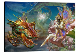 Obraz na aluminium  The dragon and the fairy - Adrian Chesterman