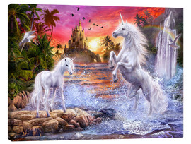 Obraz na płótnie  Unicorn waterfall sunset - Jan Patrik Krasny