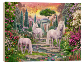 Obraz na drewnie  Classical garden unicorns - Jan Patrik Krasny