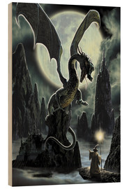 Obraz na drewnie  Dragons rock - Dragon Chronicles