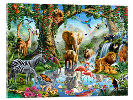 Obraz na szkle akrylowym  The paradise of animals - Adrian Chesterman