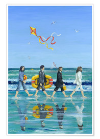 Plakat  Abbey Road Beach - Peter Adderley