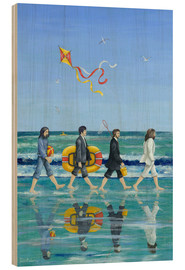 Obraz na drewnie  Abbey Road Beach - Peter Adderley