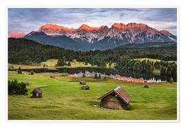 Plakat Alpenglow at Karwendel mountains