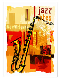 Plakat Jazz notes