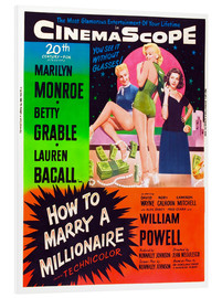 Obraz na PCV  HOW TO MARRY A MILLIONAIRE, Betty Grable, Marilyn Monroe, Lauren Bacall