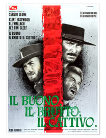 Plakat THE GOOD, THE BAD AND THE UGLY, (IL BUONO, IL BRUTTO, IL CATTIVO), Clint Eastwood, Lee Van cleef, El