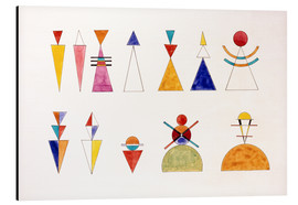Obraz na aluminium  Pictures at an Exhibition, figures - Wassily Kandinsky