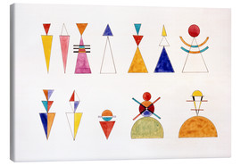 Obraz na płótnie  Pictures at an Exhibition, figures - Wassily Kandinsky