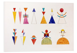 Obraz na PCV  Pictures at an Exhibition, figures - Wassily Kandinsky