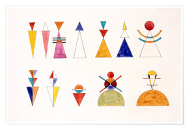 Plakat  Pictures at an Exhibition, figures - Wassily Kandinsky