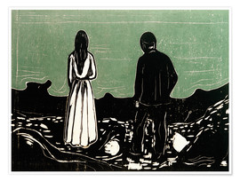 Plakat  Two human Beings. The Lonely Ones - Edvard Munch