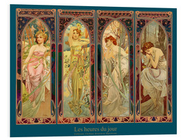 Obraz na PCV  Les heures du jour, nuit collage (French) - Alfons Mucha