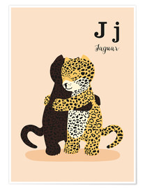 Plakat  The Animal Alphabet - J like Jaguar - Sandy Lohß
