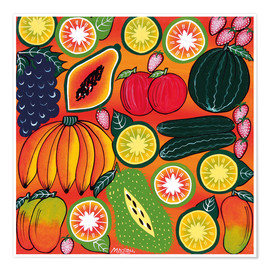 Plakat The fruits of Africa