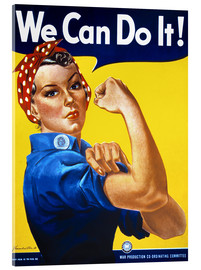 Obraz na szkle akrylowym  We Can Do It! - Advertising Collection