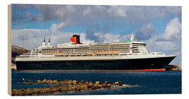 Obraz na drewnie  Queen Mary 2 in the port of La Palma - MonarchC
