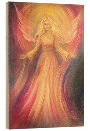 Obraz na drewnie  Angel of light and love - Marita Zacharias
