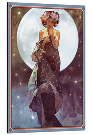 Obraz na aluminium  The Moon, adaptation - Alfons Mucha