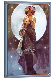 Obraz na płótnie  The Moon, adaptation - Alfons Mucha