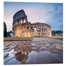 Obraz na szkle akrylowym  Colosseum reflected into water - Matteo Colombo