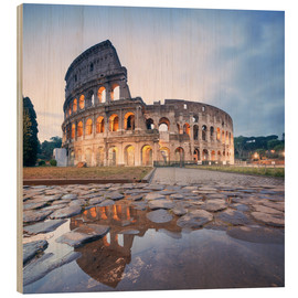 Obraz na drewnie  Colosseum reflected into water - Matteo Colombo