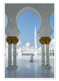 Plakat Sheik Zayed Grand Mosque, Adu Dhabi, Emirates