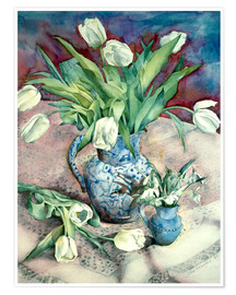 Plakat  Tulips and Snowdrops - Julia Rowntree