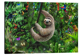 Obraz na aluminium  Sloth in the jungle - Adrian Chesterman