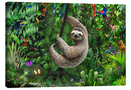Obraz na płótnie  Sloth in the jungle - Adrian Chesterman