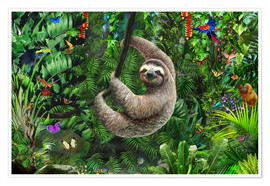 Plakat Sloth in the jungle