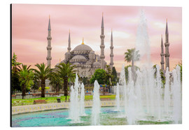 Obraz na aluminium  the blue mosque (magi cami) in Istanbul / Turkey (vintage picture) - gn fotografie