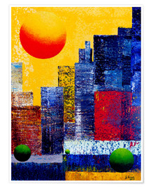 Plakat New York Skyline Abstrakt