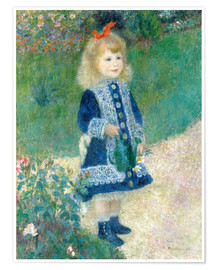 Plakat Girl with watering can