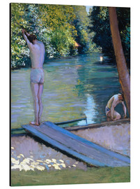 Obraz na aluminium  Bathers on the banks of the Yerres - Gustave Caillebotte