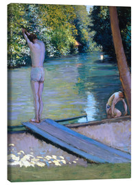 Obraz na płótnie  Bathers on the banks of the Yerres - Gustave Caillebotte